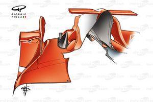 Ancienne spécification du capot moteur de la Ferrari F2005