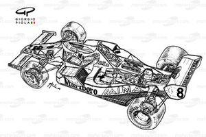 Vista detallada del McLaren MP4-1C 1983