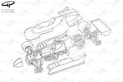 Ligier JS11/15 1980 exploded overview