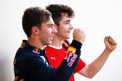 2016 GP3 Series champion Charles Leclerc, ART Grand Prix and 2016 GP2 Series champion Pierre Gasly, PREMA Racing