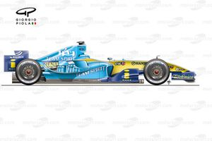 Renault R25 2005 side view