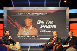 Bob Varsha acoge la Conferencia de prensa de USF1 con Ken Anderson y Peter Windsor