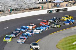 Matt Crafton, ThorSport Racing Toyota and Kaz Grala, GMS Racing Chevrolet