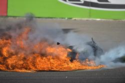Chute de Tom Sykes, Kawasaki Racing