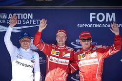 Sıralama turları ilk 3: Sebastian Vettel, Ferrari, Kimi Raikkonen, Ferrari, Valtteri Bottas, Mercede