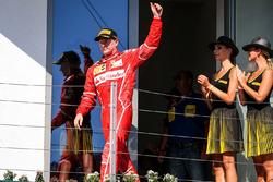 Podium: second place Kimi Raikkonen, Ferrari