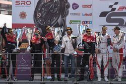 AM-Cup podium: #888 Kessel Racing Ferrari 488 GT3: Jacques Duyver, Marco Zanuttini, David Perel, Nik