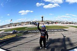 Race winner Ryan Preece, Joe Gibbs Racing Toyota