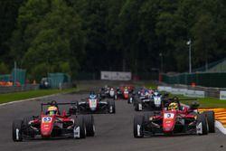 Callum Ilott, Prema Powerteam, Dallara F317 - Mercedes-Benz, Maximilian Günther, Prema Powerteam Dallara F317 - Mercedes-Benz