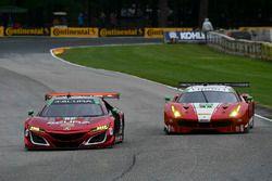 #86 Michael Shank Racing Acura NSX: Oswaldo Negri Jr., Jeff Segal, #63 Scuderia Corsa Ferrari 488 GT3: Christina Nielsen, Alessandro Balzan