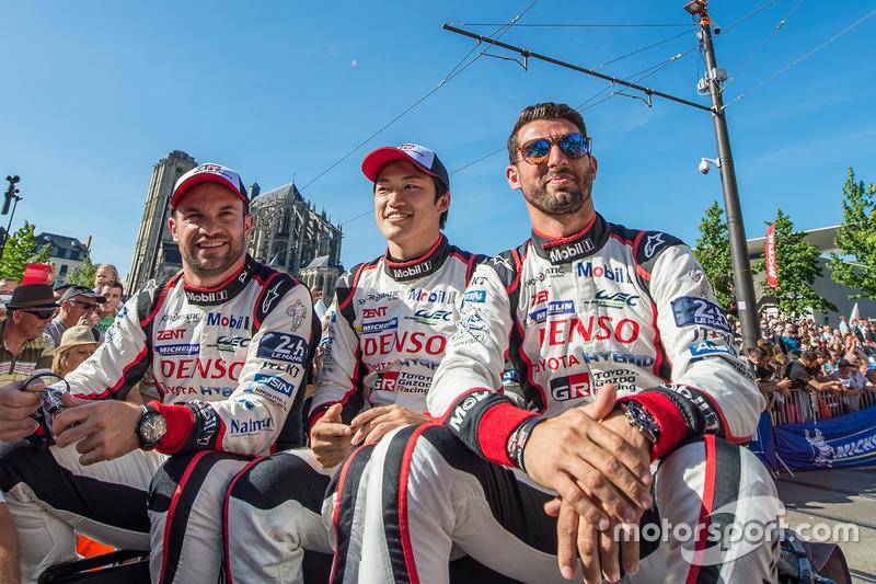 Jose Maria Lopez, Yuji Kunimoto, Nicolas Lapierre, Toyota Gazoo Racing