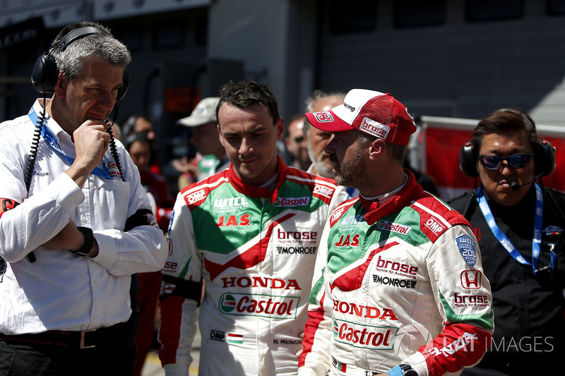 Norbert Michelisz, Honda Racing Team JAS, Honda Civic WTCC and Tiago Monteiro, Honda Racing Team JAS