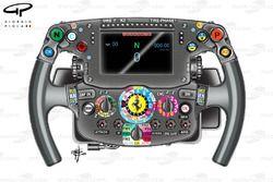 Ferrari SF16-H, volante di Sebastien Vettel