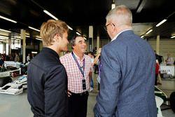 Nico Rosberg, Nigel Mansell , Ross Brawn, Director de Motorsports, FOM