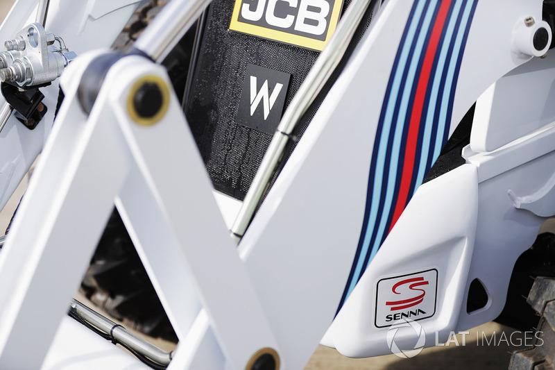 A Williams-branded JCB
