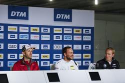 Conferencia de prensa: René Rast, Audi Sport Team Rosberg, Audi RS 5 DTM, Gary Paffett, Mercedes-AMG Team HWA, Mercedes-AMG C63 DTM, Maxime Martin, BMW Team RBM, BMW M4 DTM