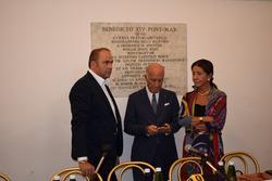 Max Rendina, il Presidente dell'Aci Angelo Sticchi Damiani e il Presidente dell'Aci Roma Giuseppina Fusco