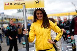 Grid girl de Robert Wickens, Mercedes-AMG Team HWA, Mercedes-AMG C63 DTM