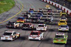 A.J. Allmendinger, JTG Daugherty Racing Chevrolet, Denny Hamlin, Joe Gibbs Racing Toyota, Matt Kense