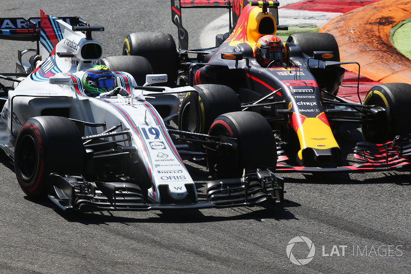 Felipe Massa, Williams FW40, Max Verstappen, Red Bull Racing RB13