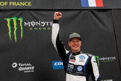 Podium : le vainqueur Johan Kristoffersson, PSRX Volkswagen Sweden, VW Polo GTi