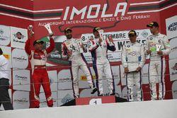 Podio PRO gara 2, Cassara-Gentili (Ombra Srl,Lamborghini Huracan-S.GT3 #7), Motoaki Ishikawa (AF Cor