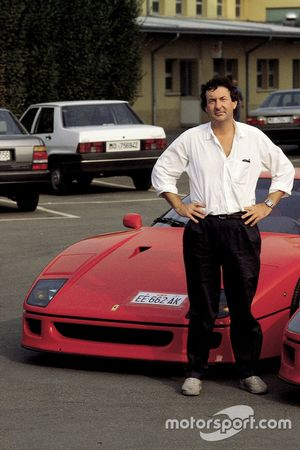 Ferrari F40 with Nick Mason, Pink Floyd at Maranello in 1992