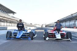 IndyCars für 2018 von Chevrolet und Honda mit Juan Pablo Montoya und Oriol Servia