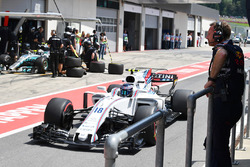 Christian Horner, Red Bull Racing Team Principal and Lance Stroll, Williams FW40