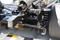 Mercedes AMG F1 W08 detail van de achterkant