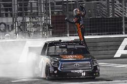 Race winner Christopher Bell, Kyle Busch Motorsports Toyota celebrate