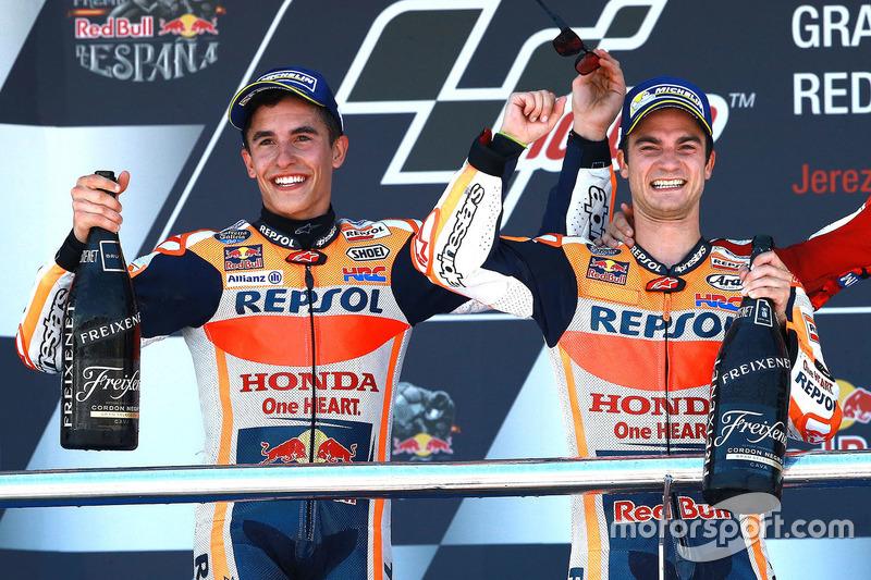 Pedrosa menang dan podium ganda Repsol Honda berlanjut di Jerez