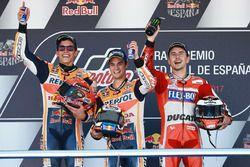 Podium: Race winnaar Dani Pedrosa, Repsol Honda Team, tweede plaats Marc Marquez, Repsol Honda Team,