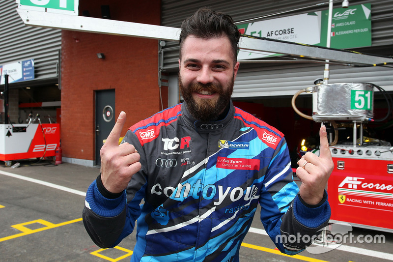 Race winner Stefano Comini, Comtoyou Racing, Audi RS3 LMS