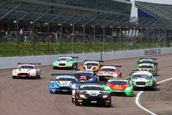 Start of the race , Derek Johnston, Jonny Adam, TF Sport Aston Martin Vantage GT3 leads