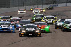 Start of the race, Derek Johnston, Jonny Adam, TF Sport Aston Martin Vantage GT3 leads