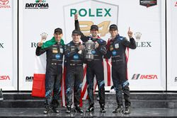 Podium: race winners Ricky Taylor, Jordan Taylor, Max Angelelli, Jeff Gordon, Wayne Taylor Racing