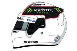 L'immagine del casco postata da Lewis Hamilton su Instagram