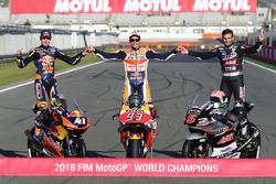 2016 World Champions Brad Binder, Red Bull KTM Ajo, KTM, Marc Marquez, Repsol Honda Team, Johann Zarco, Ajo Motorsport