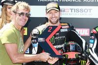 Segundo lugar Tom Sykes, Kawasaki with Troy Bayliss