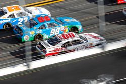 Cole Custer, Stewart-Haas Racing Ford; Aric Almirola, Ford; Spencer Gallagher, GMS Racing Chevrolet
