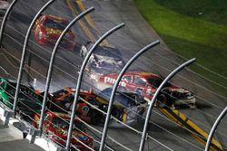 Matt Tifft, Joe Gibbs Racing Toyota, crash