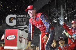 Ryan Reed, Roush Fenway Racing Ford celebrates his win in Victory Lane