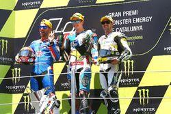 Podium: segundo, Mattia Pasini, Italtrans Racing Team, ganador, Alex Márquez, Marc VDS, tercero, Tho
