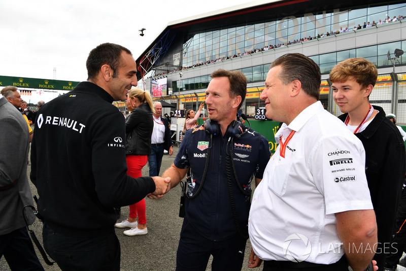 Cyril Abiteboul, Renault Sport F1; Dr Helmut Marko, Red Bull; Christian Horner, Red Bull Racing Team y Zak Brown, McLaren
