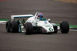 Paul di Resta, in the 1982 Williams FW08B Cosworth 6 wheeled F1 car