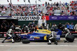Alexander Rossi, Herta - Andretti Autosport Honda aux stands