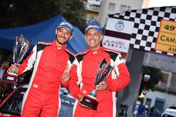 Luca Pedersoli e Matteo Romano, Citroen C4 WRC festeggiano il secondo posto