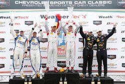 Le podium PC : les vainqueurs Renger van der Zande, Alex Popow, les 2e Colin Braun, Jon Bennett, les 3e Robert Alon, Tom Kimber-Smith