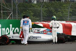 Felipe Massa, Williams FW38 se estrelló en la primera sesión de práctica